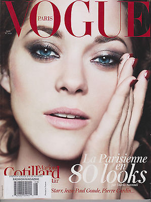 VOGUE PARIS August 2012 Sexy MARION COTILLARD Arizona Muse ISABELI FONTANA.
