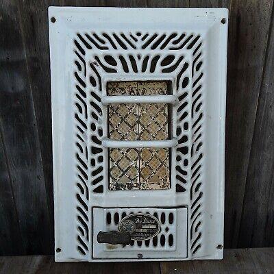 Vintage DeLuxe No. 4 Porcelain Gas Wall Heater 3000 Btu 1947 Los Angeles, Calif.