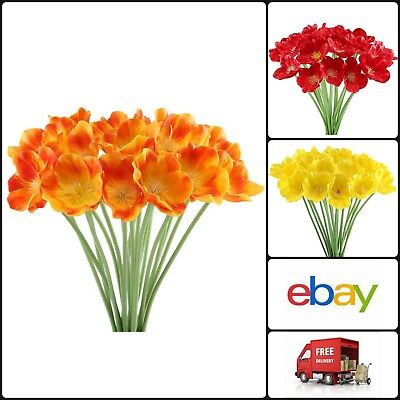 Artificial Poppies Flowers Fake Realistic Bouquet Wedding Home Decoration 20pcs