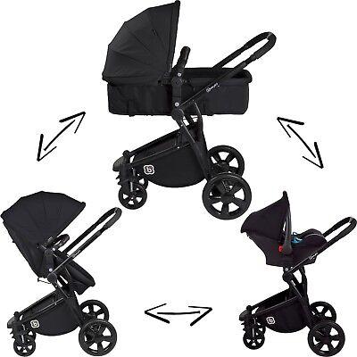 3in1 Kinderwagen Kombikinderwagen Buggy Sportwagen Babyschale Autositz 0-13kg S