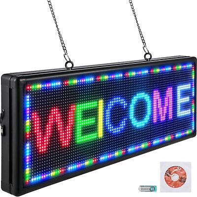 Vevor Led Scrolling Sign 40x15 P10 Programmable 7color Sign Message Board