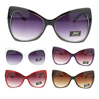 Giselle Womens Large Butterfly Cat Eye Diva Designer Fashion (Gisele Sunglasses)
