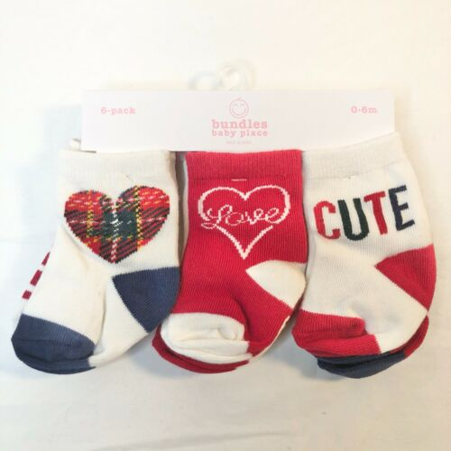 TCP Baby Girls Tartan Midi Socks Classic Red 6-pack 0-6M NEW