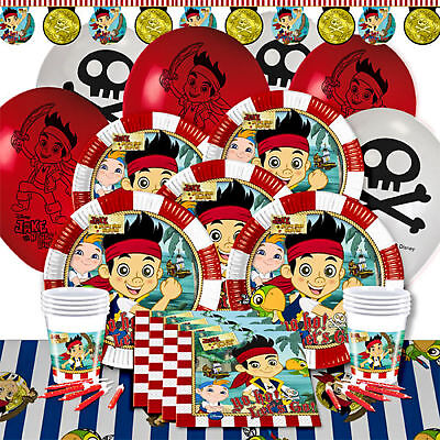 JAKE AND THE NEVER LAND PIRATES Plates Cups Napkins Birthday Party Tableware - Pirate Plates And Napkins