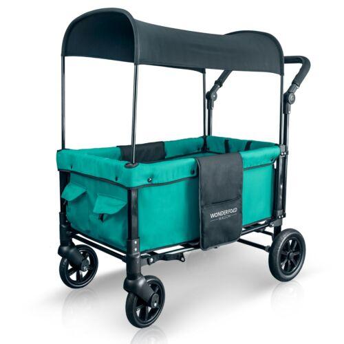 WonderFold W1 Multi-Function 2 Passenger Double Push Folding Stroller Wagon
