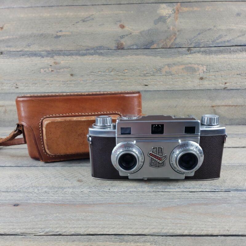 Revere Stereo 33 35mm Vintage Film Camera w Wollensak Amaton F3.5 Lens