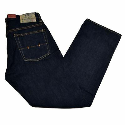 Polo Ralph Lauren Mens Jeans Relaxed Fit Rinsed Indigo Riverside Bottoms 30x30