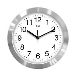 hito Modern Silent Wall Clock Non ticking 10 inch Excellent Accurate Sweep Mo...