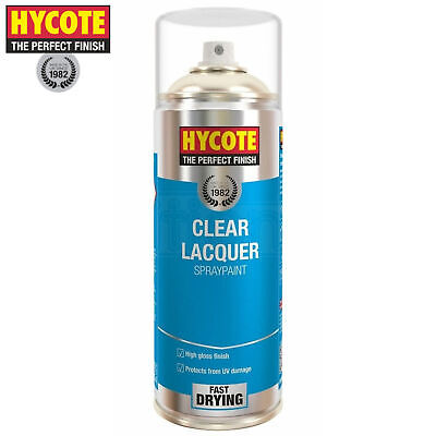 Hycote Clear Lacquer Spray Paint Aerosol Fast-Drying High Gloss Coating 400ml