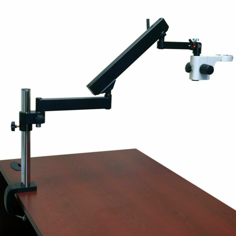 OMAX Articulating Arm Boom Stand with 40cm High Vertical Post