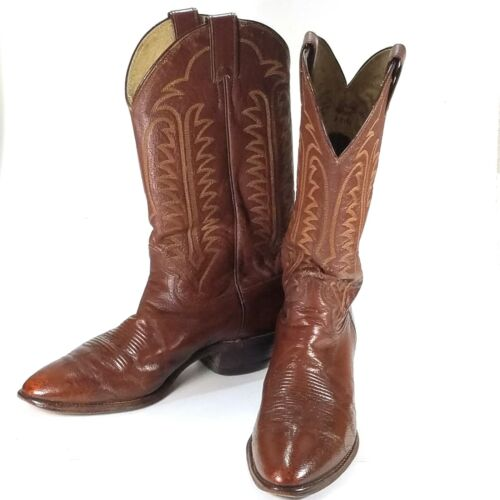 Justin, Cowboy, Boots, Brown, Leather, Mens, Size, 9, D, Distressed, Western, J8106