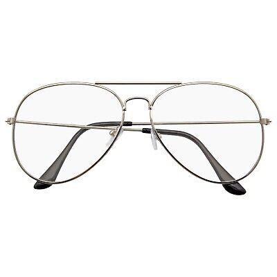 Herren Damen Retro Sonnenbrille Indie Klassisch Nicht Rezept Klarglas Brille
