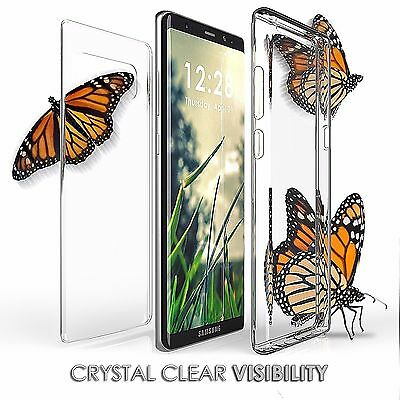 For Galaxy Note 8 Full Body Front Screen + Back Protector Transparent Cover Case