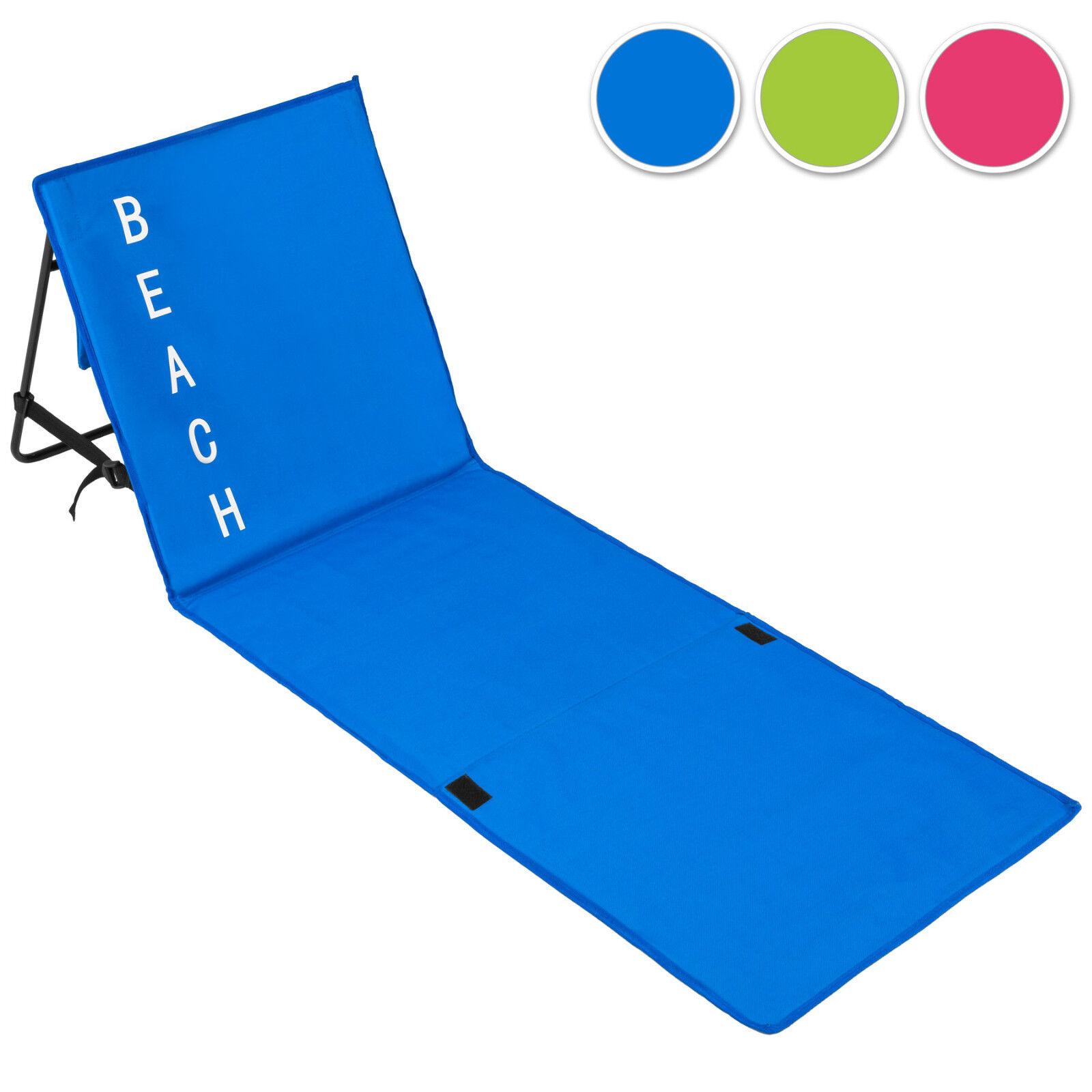 Gepolsterte Strandmatte verstellbare Rückenlehne Matte Strand Liege Lehne