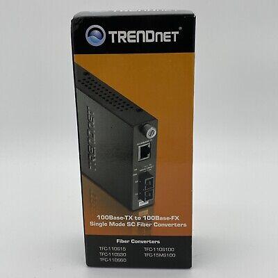 TRENDNET INC TFC-110S15 100BASE-TX To 100BASE-FX SINGLE Fiber SC CONVERTER 15km