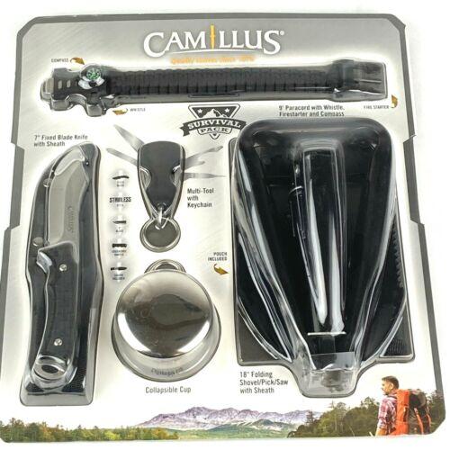 """CAMILLUS Survival Pack 5 PC 18"""" Folding Shovel/Saw/ Pick Knife Multi Tool NIP"""