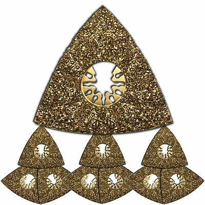 10 X Oscillating Tool Triangular Carbide Rasps -fits Ryobi Jobplus By Integra