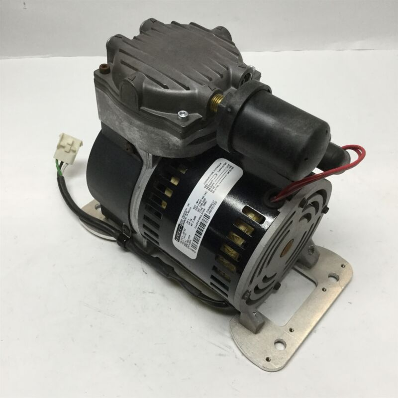 Gast 74R130-P180-H200X Rocking Piston Compressor Vacuum Pump 1/4HP, 115V, 100PSI