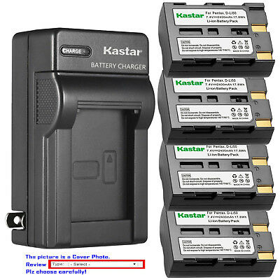 Kastar Battery Wall Charger for Konica Minolta NP-400 Maxxum 5D Maxxum 7D Camera (Minolta Maxxum 7d)