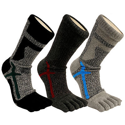 Mens Sports Athletic Crew Compression Running Dry Coolmax Five Finger Toe