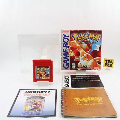 Pokemon Red Version Nintendo Game Boy 100% CIB COMPLETE SAVES AUTHENTIC