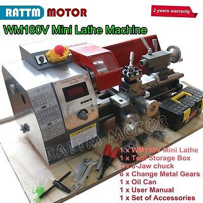 Mini Metal Turning Thread Lathe Machine Wood Drilling Woodworking W 600w Motor