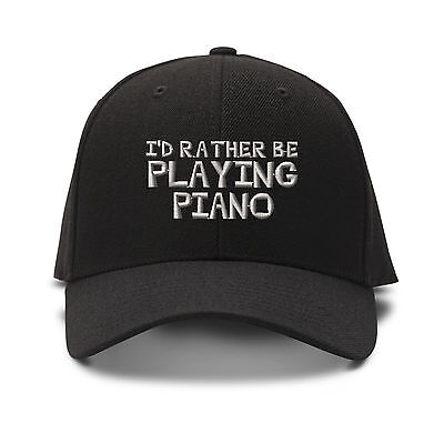 I`D Rather Be Playing Piano Embroidery Embroidered Adjustable Hat Baseball Cap