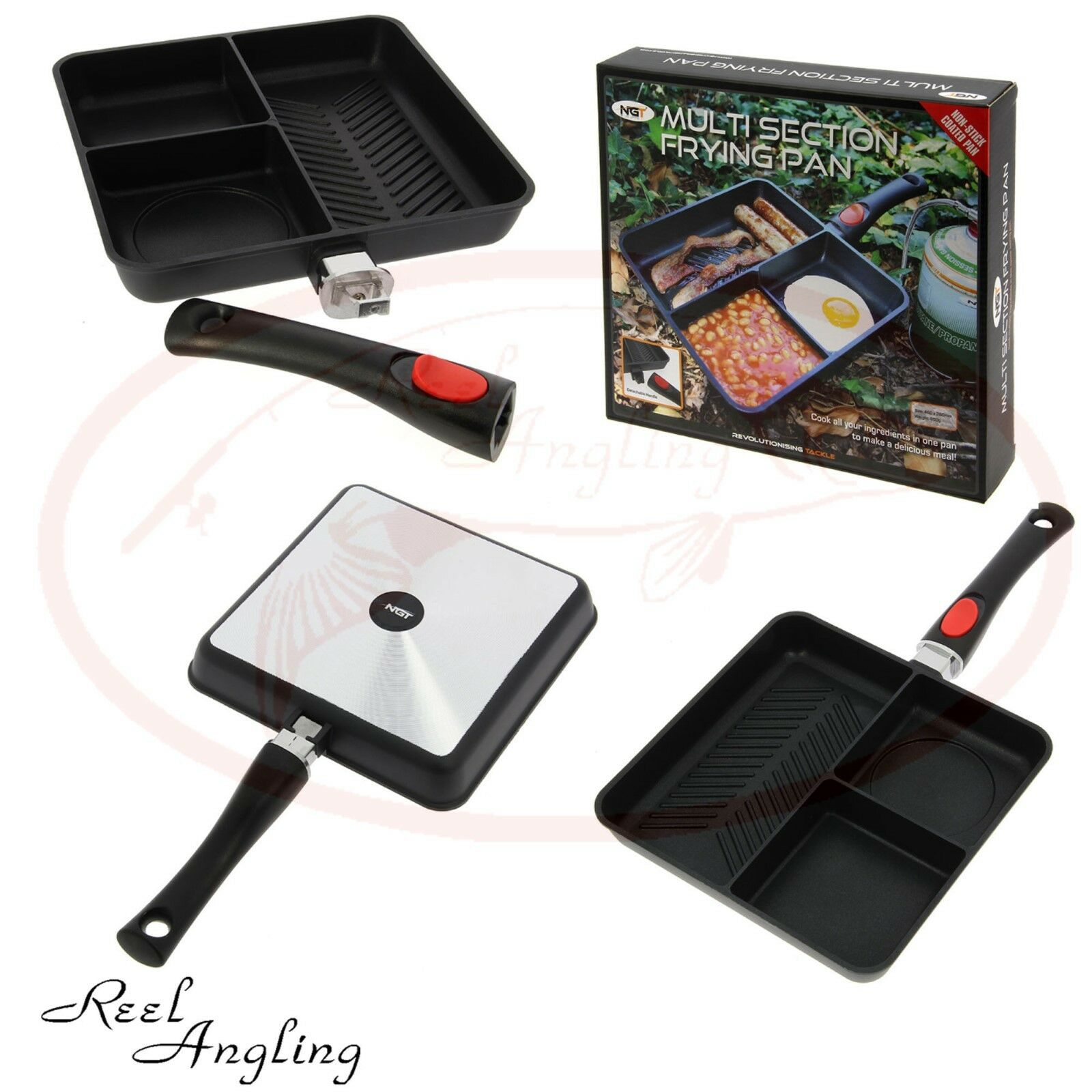 TF Gear NEW 3 in 1 Supersize Carp Fishing Frying Pan Camping Hunting Outdoor