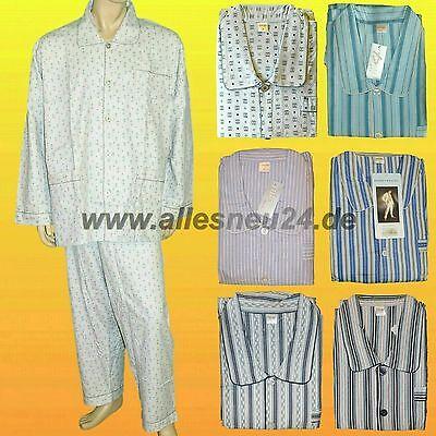 Herren Pyjama Schlafanzug 100% gewebte Baumwolle Flanell (Gr. 56-64) div. Farben - Baumwolle Gewebte Pyjama-set