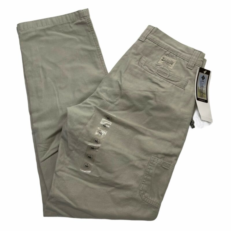 Columbia Pants Womens 6 Fossil Stonewashed ROC Cotton Canvas Cargo Hiking