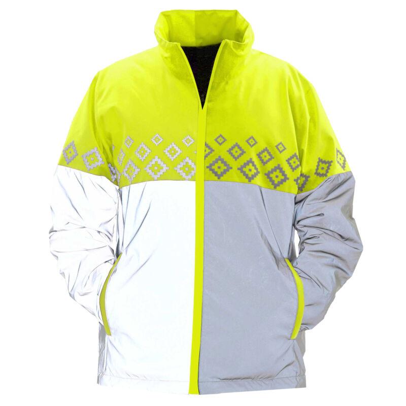 Equisafety Luminosa Reversible Safety Wear Reflective Jacket - Yellow All Sizes