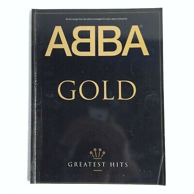 SHEET MUSIC BOOK - ABBA - GOLD - GREATEST HITS - VOICE, PIANO, GUITAR - GOOD