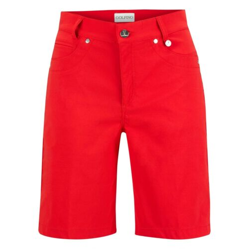 Golfino Ladies 6 8 10 12 14 Sofia Medium Bermuda Red Golf Shorts 4364523 368