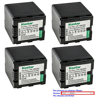 Kastar Replacement Battery Pack for Panasonic VW-VBN260 & HDC-HS900GK Camcorder 900 Replacement Camera Battery