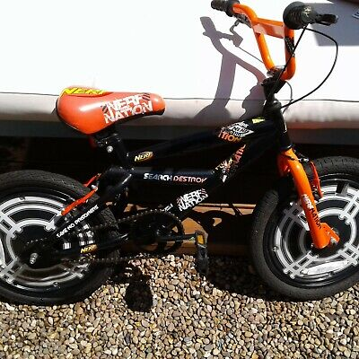 "The Nerf Nation Bike18"" Wheel BMX Style  Age 6-8 Yrs"