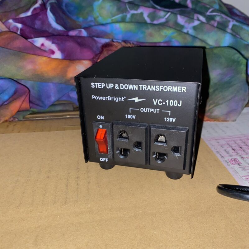 PowerBright Step Up / Step Down Converter 120v to 100v (100w)