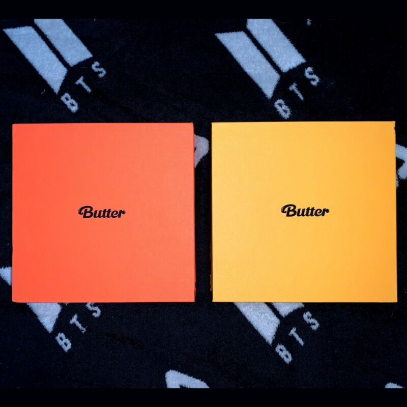 [US SELLER] BTS Butter Official Album Set BOTH VER, NO PHOTOCARD OR MESSAGE CARD