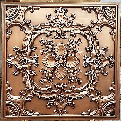 PL19 Faux finishes tin antique copper ceiling tiles decor wall panels 10tile/lot
