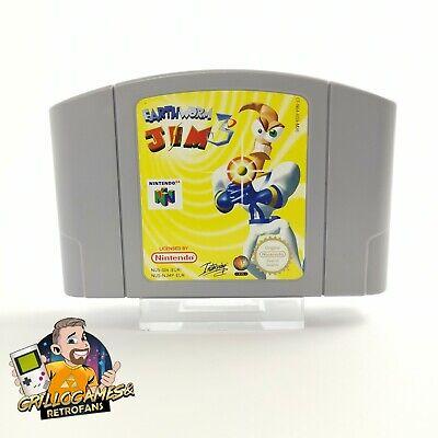 "Nintendo 64 Spiel "" EarthWorm Jim 3D "" Earth Worm N 64 / N64 | Modul Cartridge"