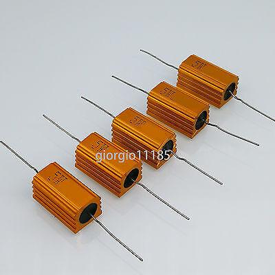Us Stock 5pcs 15 Ohm 15r 5w Watt Aluminum Housed Metal Case Wirewound Resistors
