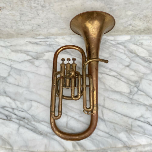 "Vintage Brass Baritone 3 Valve Horn "" The Yankee """