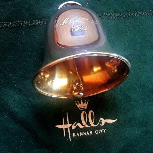 1992 Halls Kansas City JJ Bell Sterling Silver Annual Bell Christmas Ornament
