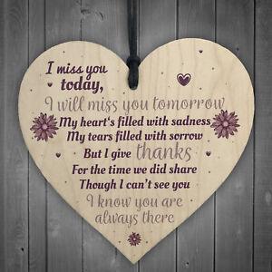 Miss You Memorial Bereavement Gifts For Mum Dad Nan Grandad Love Hanging Plaque