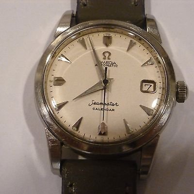 VINTAGE 1958 MENS SS OMEGA SEAMASTER CAL 503 AUTOMATIC CALENDER WRIST WATCH