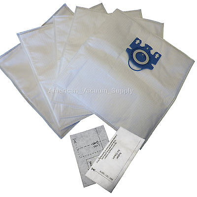 DVC for Miele Vacuum Bags G&N Canister 5 Bags & 2 Filters Type GN fits C3 C1 S2 Miele Vacuum Filters