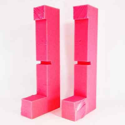 2x Foam Block 16 X 6 X 2 Shipping Anti-static Pink Medium Density 998-004x2