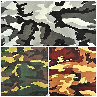 Deko Möbel Patchwork Stoffe Baumwolle Vorhang Camouflage Militär Bundeswehr Tarn (Möbelstoff Camouflage)