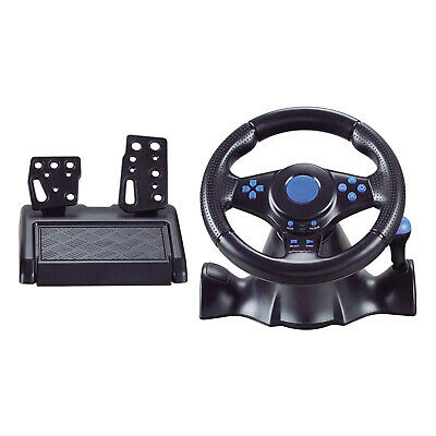 Vibration Racing Steering Wheel Pedals Gear Shifter Set for PS4 Xbox One PC