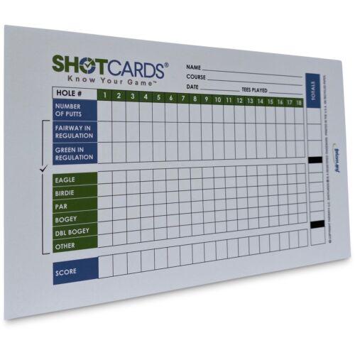 SHOTCARDS Standard Edition (Blue/Green) - Golf Shot and Stat Tracking Scorecards
