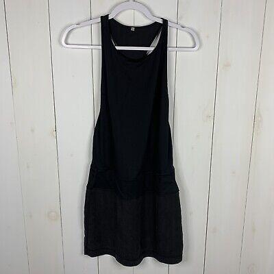 Lululemon Womens Black Size 4 Blissed Out Racerback Tank Swim Cover Dress